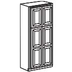 Wide Pantry Cabinet 84 Inch - Charleston Coffee Glaze CCGWP2484