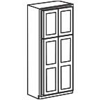 Wide Pantry Cabinet 96 Inch - Shaker Gray SGWP2496