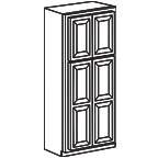 Wide Pantry Cabinet 90 Inch - Savannah Sienna Glaze SSGWP2490