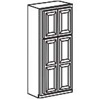 Wide Pantry Cabinet 96 Inch - Savannah Sienna Glaze SSGWP2496