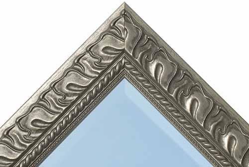 24 Inch Antique Pewter Mirror
