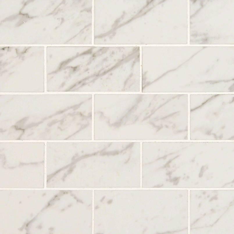 Carrara Porcelain Subway Tile
