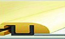 """919-5 American Walnut Rigid Vinyl Plank Reducer 7'-8""""L x 1.38""""W x .47""""T"""