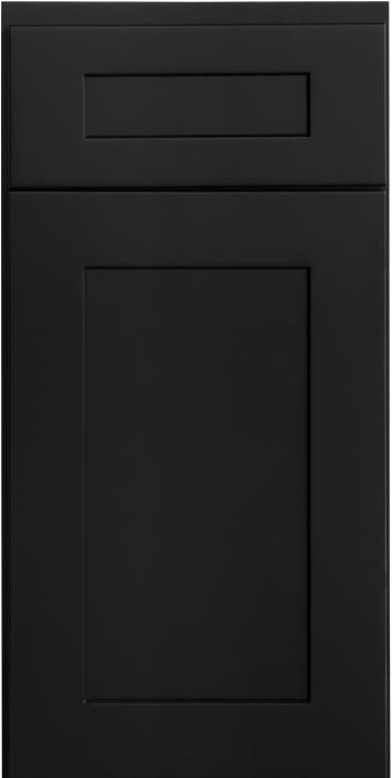 Shaker Black Cabinet Sample
