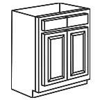 Sink Base Cabinet 42 Inch - Appalachian Oak AOSB42