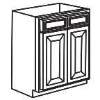 Sink Base Cabinet 36 Inch - Charleston Coffee Glaze CCGSB36