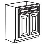 Sink Base Cabinet 36 Inch - Savannah Sienna Glaze SSGSB36