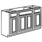 Sink Base Cabinet 60 Inch - Appalachian Oak AOSB60