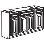 Sink Base Cabinet 60 Inch - Savannah Sienna Glaze SSGSB60