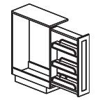 Pull Out Spice Rack Base Cabinet 6 Inch - Shaker Espresso SETB06