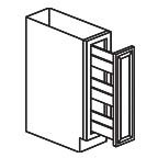 Pull Out Spice Rack Base Cabinet 6 Inch - Savannah Sienna Glaze SSGTB06
