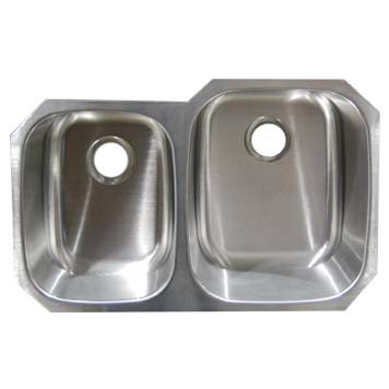 Stainless Steel Undermount Sink - Double Bowl UM322079