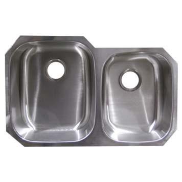 Stainless Steel Undermount Sink - Double Bowl UM322097