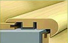 American Walnut Rigid Vinyl Plank Stairnose