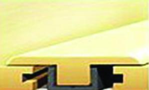 "64101 Fruit Wood Luxury Vinyl Plank T-Mold 7'-8""L x 1.38""W x .47""T"
