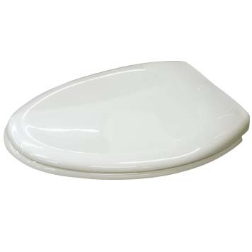 Elongated Front Toilet Seat in White