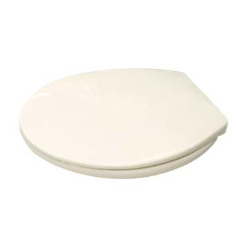 Round Front Toilet Seat in Biscuit