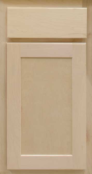 Unfinished Shaker Maple Cabinet Sample