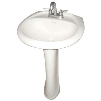 Vitreous China Pedestal Sink - Iris Bowl - 28100