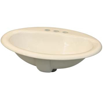 Vitreous China Sink Bowl - Gaia Top Mount in Biscuit - 39002