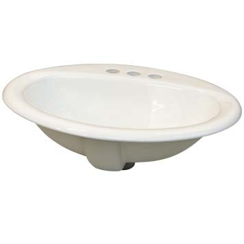 Vitreous China Sink Bowl - Gaia Top Mount in White - 39000