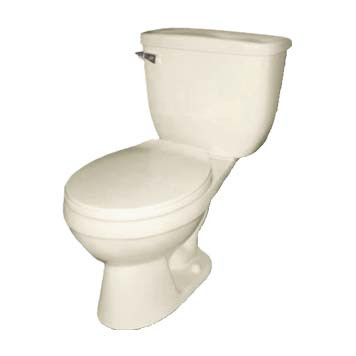 Vitreous China Toilet - Apollo Round Front in Biscuit - 41002