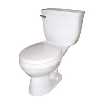 Vitreous China Toilet - Apollo Round Front in White - 41000