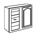 Wall Blind Corner Cabinet 24 Inch AOWBC2430 - Appalachian Oak