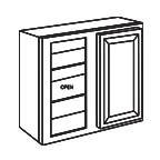 Wall Blind Corner Cabinet 30 Inch - Charleston Coffee Glaze CCGWBC2430