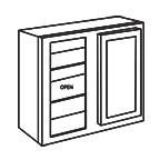 Wall Blind Corner Cabinet 30 Inch - Shaker Espresso SEWBC2430