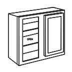 Wall Blind Corner Cabinet 42 Inch - Shaker Espresso SEWBC2442