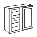 Wall Blind Corner Cabinet 30 Inch - Shaker White SWWBC2430