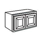 Wall Cabinet 33 by 12 Inch - Charleston Coffee Glaze CCGW3312