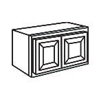 Wall Cabinet 33 by 15 Inch - Charleston Coffee Glaze CCGW3315