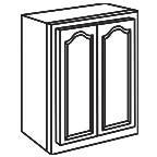 Wall Cabinet 27 Inch AOW2730 - Appalachian Oak
