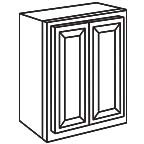 Wall Cabinet 33 by 30 Inch - Antique White AWW3330
