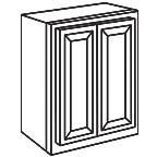 Wall Cabinet 27 by 30 Inch - Savannah Sienna Glaze SSGW2730