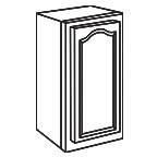 Wall Cabinet 15 Inch AOW1530 - Appalachian Oak