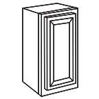 Wall Cabinet 15 by 42 Inch - Savannah Sienna Glaze SSGW1542