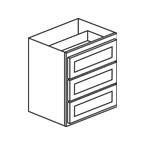 Wall Drawer Base 24 Inch - Shaker White SWWDB2418