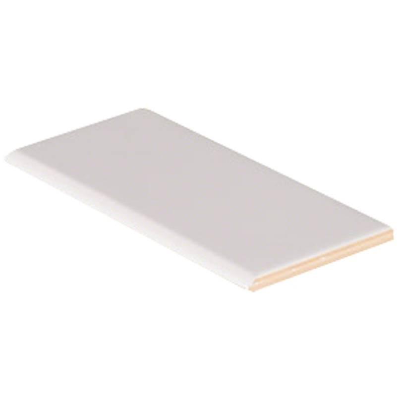 White Glossy 3x6 Bullnose Tile
