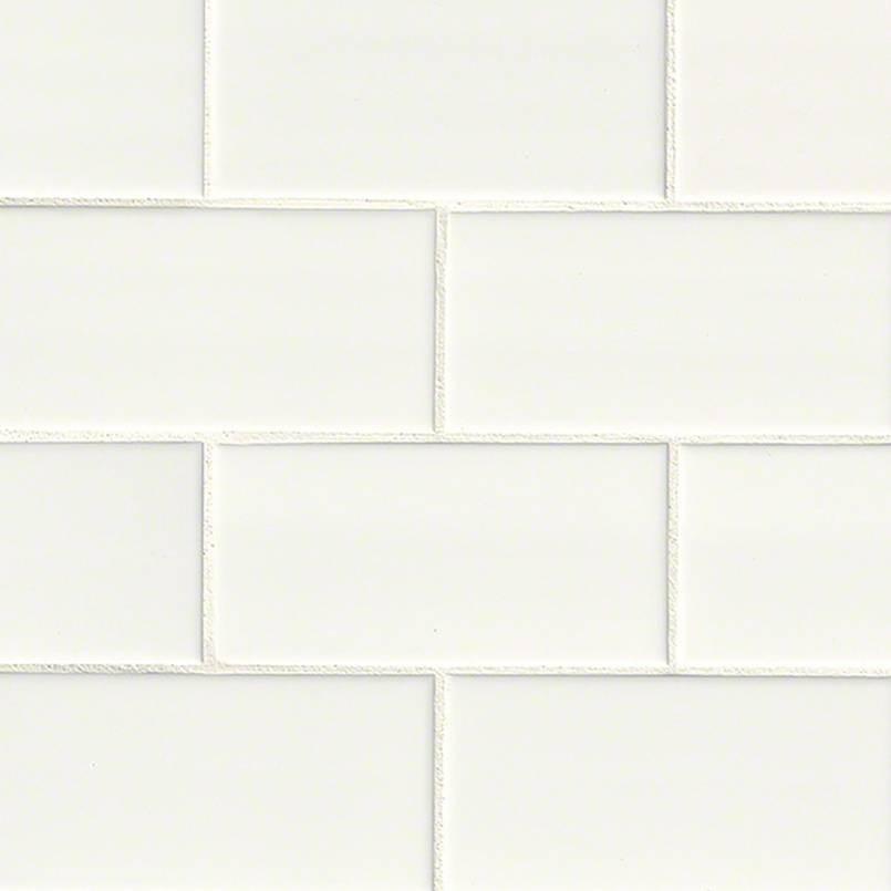 White Glossy 3x6 Subway Tile