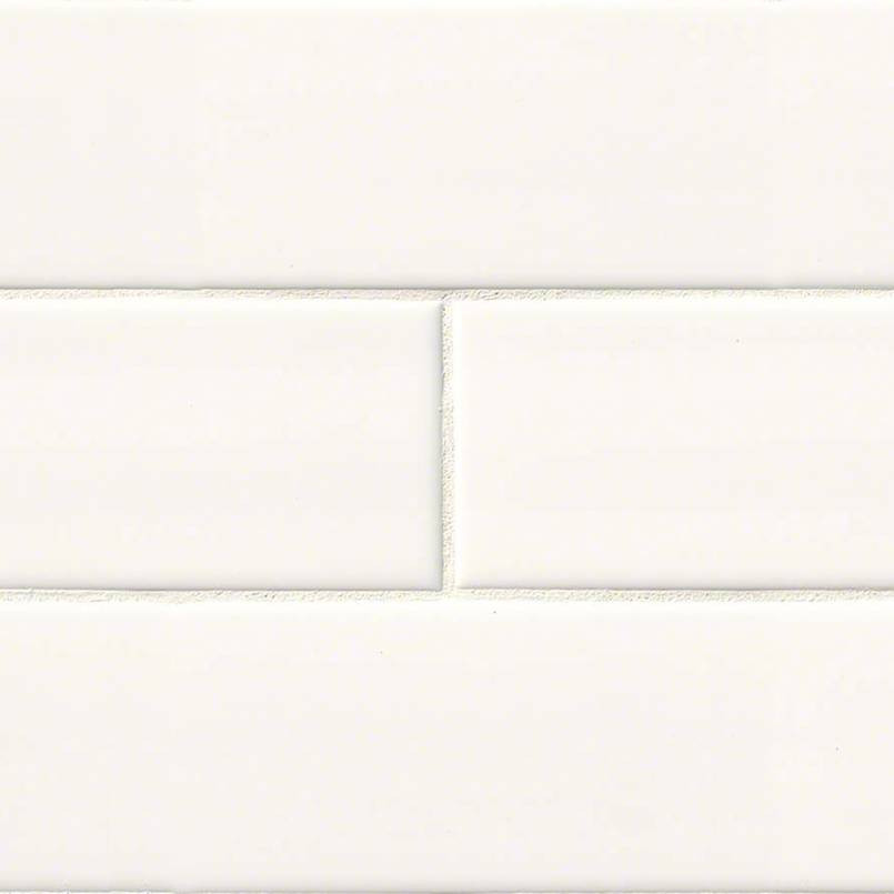 White Glossy 4x16 Subway Tile