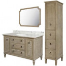 Ann Furniture Vanity with Mirror and Linen Cabinet