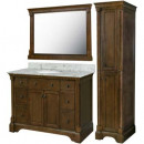 Renee Furniture Vanity with Mirror and Linen Cabinet