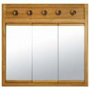 Medicine Cabinet with Lights - Appalachian Oak