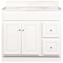 21 Inch Deep Vanity - Glossy White