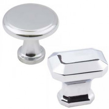 Cabinet Knobs in Polished Chrome Finish
