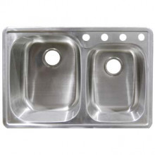 Stainless Steel 60/40 Double Bowl Sink