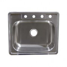 Stainless Steel Top Mount Sink - Single Bowl SS25226